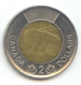 Canada 2013 Toonie Canadian $2 Dollars Two Dollar Core Error Coin
