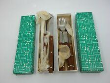 Design Besteck Mono T von Peter Raacke 1959 Messer Gabel Holz OVP