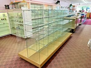 Lot of 2 Retail Store Glass Cubicle Showcase Display Cases - Pickup only