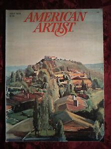 AMERICAN ARTIST July 1978 Larry Cohen Nicholas Scalise Jim Egleson Benny Bufano