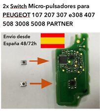 2x SWITCH MICRO-PULSADOR PEUGEOT 207 307 308 407 508 3008 5008 PARTNER. PLEGABLE