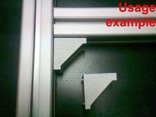 Aluminum T-slot profile 90 deg corner bracket 40x40-8mm, 8-set