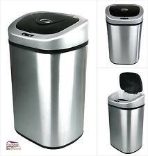 Large Touchless Trash Can 21.1 Gallon Motion Sensor Automatic Stainless Steel