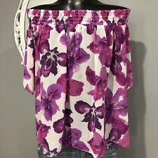 XL - NWT RACHEL ROY Iris Floral Print Off Shoulder Blouse Top