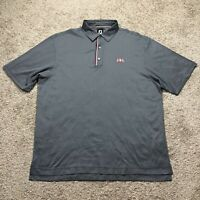 FootJoy FJ Men's 2XL XXL Short Sleeve Gray Golf Polo Shirt