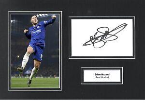 Eden Hazard Hand Signed 12x8 Photo Display Chelsea Autograph Memorabilia COA