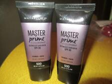 Maybelline New York Master Prime Primer Base 500 Blur Defend LOT of 2 Sealed