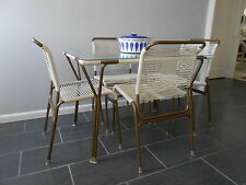 Mid Century Modern Ames Aire Casual Furniture Dining Table with 4 Chairs