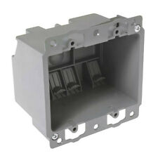 Raco 7488RAC Old Work Pvc Box With Clamp, 2 Gang