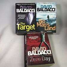 3 David Baldacci Books - The Target, No Man's Land & Zero Day - Bundle