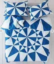 Cobolt Blue Queen Duvet Doona Bed Quilt Cover Bedspread Bedding Set Clearance