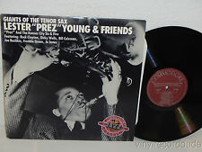 LESTER PREZ YOUNG & FRIENDS Giants of The Tenor Sax LP Commodore CCL 7002 MONO