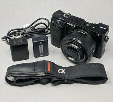 Sony Alpha A6000 24.3MP Digital Camerawith 16-50mm Lens - 807 Clicks!
