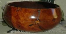 "11.7"" antique hawaiian kou calabash bowl hawaiian"