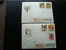 POLOGNE - 2 enveloppes 25/4/1972 (cy22) poland