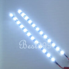 "2x Cool White 12 LEDs 30cm/11.8"" 5050 SMD LED Strip Light Waterproof 12V DIY Car"