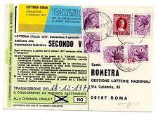 1977 REUBBLICA 5 FRANCOBOLLI DA 25 LIRE E MARCA DA BOLLO 100 LIRE A/8596