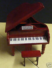 1:12 Scale Wooden Piano & Stool Tumdee Dolls House Miniature Instrument 106