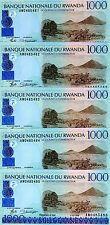 New listing Lot Rwanda, 5 x 1000 (1,000) Francs, 1998, P-27, Cv=$75, Unc