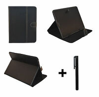 Black PU Leather Case Stand for HANNSPREE HANNSPAD 10.1 inch Tablet PC