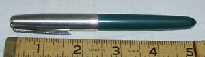PARKER 21 BRUSHED STEEL CAP WITH GRAY BODY FOUTAIN PEN