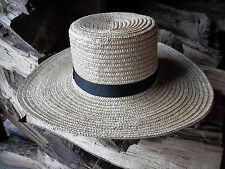 BRAND NEW GENUINE Pennsylvania  AMISH HAND MADE STRAW HAT MEN'S SIZE 7 5/8  inch