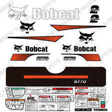 Bobcat S770 Decal Kit Skid Steer (Curved Stripes)