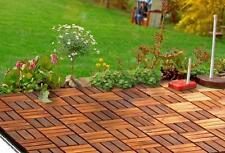 Akazie Holzfliese Terrassenfliese Balkonfliese 10er pack, 30x30cm