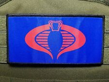 Cobra Commander 3x6 Blue Plate Carrier Hook Loop Morale Patch Cosplay Chest Rig