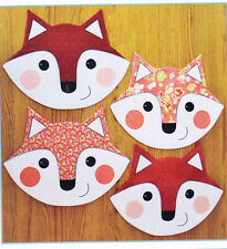 PATTERN - Let's Eat - fox placemats, runner or topper PATTERN - Susie Shore