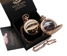 ELVIS PRESLEY TCB Pocket Watch Rose Gold clad Signed Autographed Luxury Case