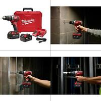M18 18-Volt Lithium-Ion Cordless 1/2 in. Hammer Drill Driver Kit w/(2) 3.0A