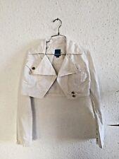 CHRISTIAN LACROIX,veste jeans blanche, courte ,taille 40,en cotton