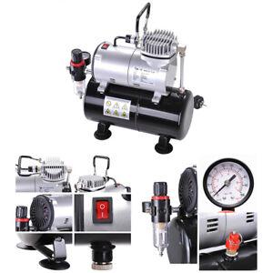 Air Compressor - 1/6HP Pressure Regulator 3L Tank for Spray Gun Air Brush AS-186
