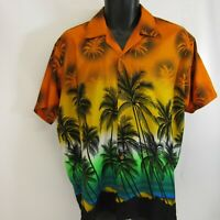 Ingear Hawaiian Shirt Men's Size L Palm Trees Mexico Large Beach Colorful