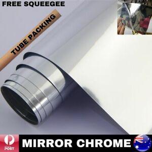 SILVER CHROME MIRROR CAR VINYL WRAP FILM DECAL AIR RELEASE QUALITY 1.52M X 30CM