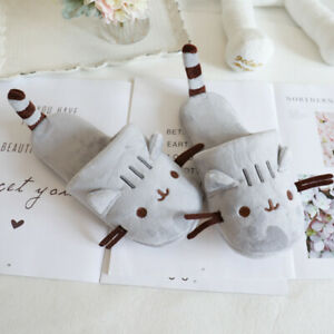 Grey long tail cat slippers lovers home shoes thick soled waterproof slippers