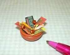 Miniature Adinolfi Orange Filled Halloween Candy Bowl (#2): DOLLHOUSE 1:12
