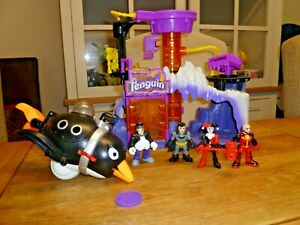 Imaginext Penguin Lair with Penguin and Batman  + Penguin vehicle and figures