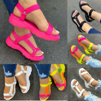 Women's Summer Sandals Hiking Outdoor Wedge Heel Athletic Open Toe Strap Shoes