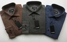 Mens Shirts Striped Work Flannel Brushed Cotton Lumberjack Long Sleeve Casual