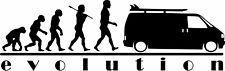 EVOLUTION VW Campervan T4 Camper Vinyl Decal Car/Van/Window Sticker Dub