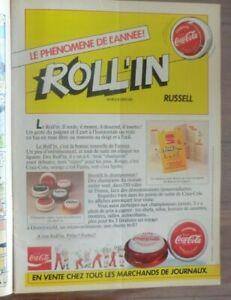 COCA COLA  ANCIENNE Publicité  Dépliant Pub  ROLL'IN Russell Yoyo