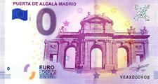 ESPAGNE Madrid, Puerta de Alcalá, N° de la 7ème, 2018, Billet 0 € Souvenir