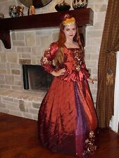 Renaissance Dress Tudor Anna Boleyn cosplay Costume Ball Red Royal Gown sz 8