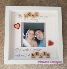 Personalised Scrabble Frame my love for you is a journey. Valentine's day gifts