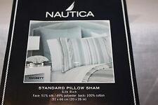 Set of 2 Nautica Kensett grey silver EURO European Bed Pillow Sham cotton new