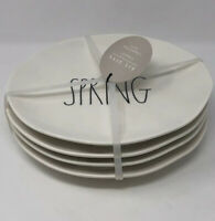 Rae Dunn By Magenta SPRING & BLOOM 8 Inch  Melamine Plates  NEW Set Of 4