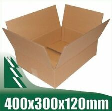 10 x Cardboard Boxes 400x300x120mm Brown Packaging Carton Mailing Box STRONG