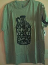 NWT Gap mens short sleeve T-shirt in green heather with whiskey jug size XXL